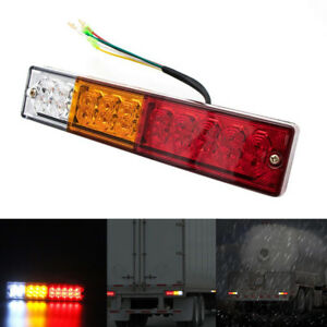 12 24v 20 Led Cargo Trailer Truck Bus Van Stop Rear Tail Indicator Light Reverse