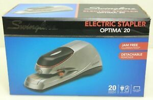 Swingline Optima 20 Electric Stapler Desktop Auto manual 20 Sheets Silver 48208