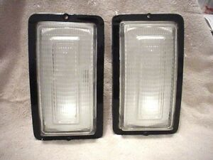Turn Signals Pair 1977 1978 Dodge Pick Up And Ramcharger Clear