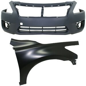 Bumper Kit For 2013 15 Nissan Altima Sedan Front Capa Certified Part 2pc