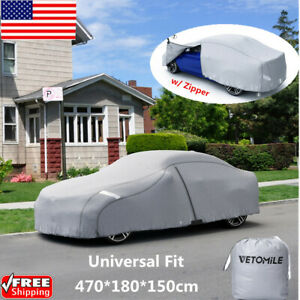 Vetomile Full Car Sedan Cover Waterproof All Weather Protection Universal Fit Us