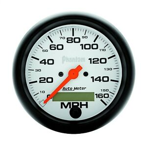 Autometer 5888 Phantom In dash Electric Speedometer With White Dial Face