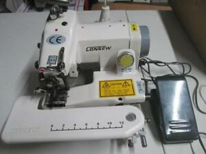 Consew Portable Blind Stitch 75t Chain Stitches Sewing Machine Single Thread