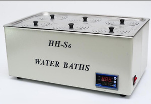1500w Digital Thermostatic Water Bath 6 Hole 500 300 150mm Hh s6 Fast Shipping