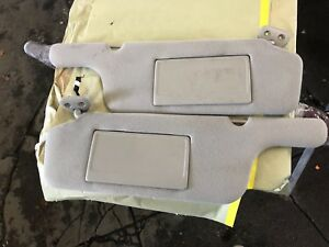 1999 2002 Mercury Villager Light Gray Cloth Power Sun Visors W Homelink Lh