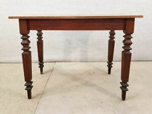 Antique French Neoclassical Small Oak Writing Desk Table Two Tone