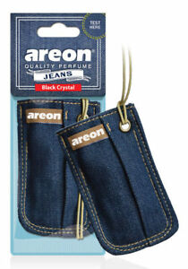 Areon Jeans Bag Car Air Freshener Quality Perfume Black Crystal Scent