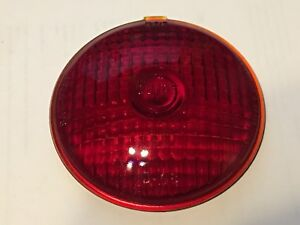 Nos Vintage Guide D68 Turn Signal Red Glass Lens Light 40 s Chevy Gmc Truck Old