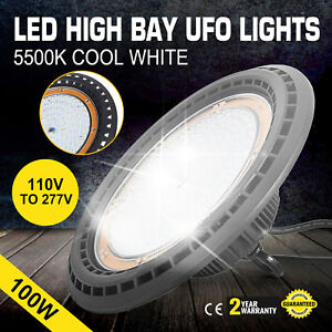 100w Ufo Led High Bay Light Waterproof Super Bright Industrial Monochrome