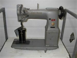 Singer 138g101 2 Needle Leather Post Bed Needle feed Industrial Sewing Machine