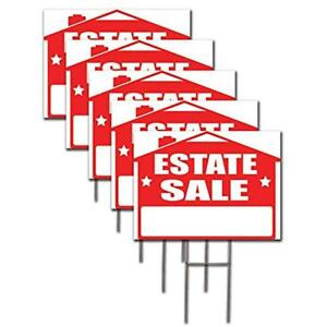 Estate Yard Signs Sale Lawn Kit With And Arrow Stickers 5
