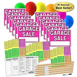 Garage Decorative Signs Sale Kit With Pricing Stickers And Wood Stakes a802g
