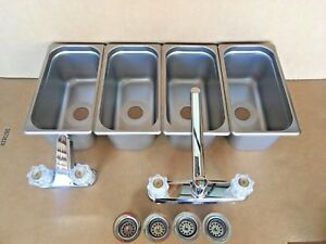 Concession Sink 3 Compartment Hand Washing For Stand Tent Trailer New