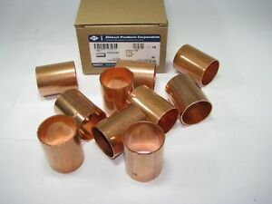 Elkhart 1 1 2 Wrot Copper Solder Joint Repair Couplers 10pcs