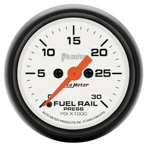Auto Meter Phantom Fuel Rail Pressure Gauge For 03 07 5 Dodge Cummins