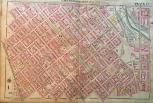 1906 Baltimore Maryland Madison Park Eutaw Place 5th Regiment Armory Atlas Map
