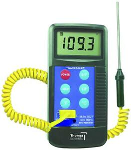 Thomas Traceable Workhorse Thermometer Type K Thermocouple 4425
