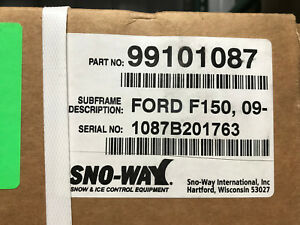 Sno Way Plow Mount Ford F150 09 16 Requires Vcm New In Box 99101087