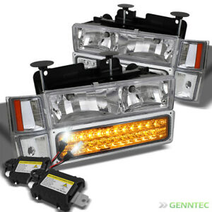 For 6000k Slim Xenon Hid tahoe Silverado Led corner bumper Lamp
