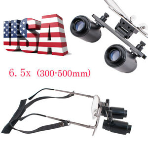 6 5 X Surgical Binocular Loupes Medical Loupes Dental Magnifying Glass 300 500mm