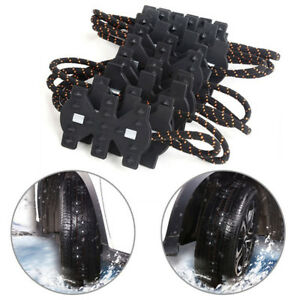 4pcs Thick Tendon Emergency Belt Thickening Tire Chains Snow Anti Skid For Car Fits Chevrolet