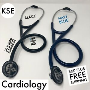 Kse Master Cardiology Stethoscope Black navy Blue By Kongs Enterprise