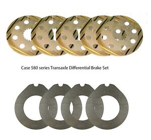 Case Replacement Differential Brake Disc Kit Fits 580e 580se 580k More