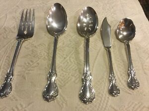 Towle Old Master Sterling Silver 5 Serving Pieces Spoons Fork Butter