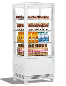 Countertop Refrigerator Merchandiser Display Case With Led Lighting 3 Cu Ft
