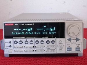 Keithley 2612 Dual channel System Source Meter W Tektronix Calibration