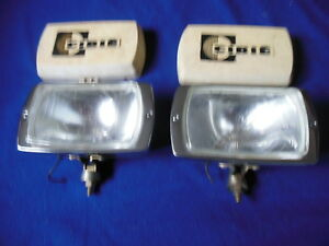 Orig Cibie Concave Driving Lamps W Covers Porsche Lancia Fiat Alfa Vw Bmw Rally