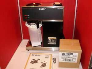 New Bunn Vpr Series 33200 Commercial 12 cup Coffee Brewer Warmer With Decanter