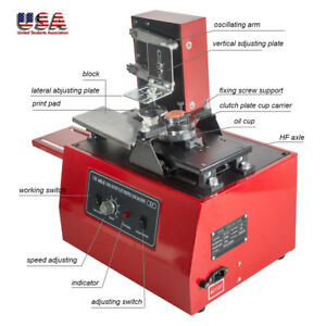 110v Pad Printer Machine Printing Components Logo Code Pen Printing Machine
