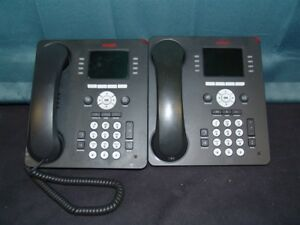 Lot Of 2 Avaya 9611g Gigabit Ip Voip Phones Tested