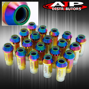 Jdm Sport Heavy Duty 12mmx1 25 Thread Pitch Neochrome Lug Nut Open Extended