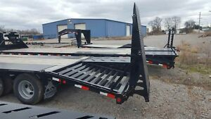 Flatbed Gooseneck 10 Ton Deckover Hd Equipment Trailer 20 5 Dove Flat Bed