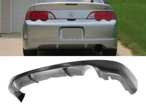 For 02 04 Rsx Coupe Urethane Rear Bumper Lip A Spec Add On Protector Diffuser