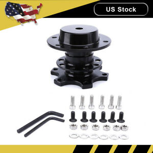 Universal Steering Wheel Quick Release Kit Hub Racing Adapter Snap Off Boss New
