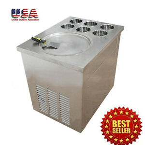 New Fried Ice Cream Machine Commercial Industrial Ice Crean Roll Making Machine