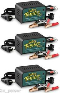 3 Pack Battery Tender Plus 021 0128 12 Volt 1 25 Amp Battery Charger 3x