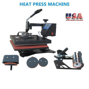 Digital Heat Transfer Press T shirt Mug Plate Sublimation Machine New 5 In 1