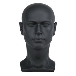 1pc Male Mannequin Manikin Head Display Wig Hat Glasses Mould Show Model Black