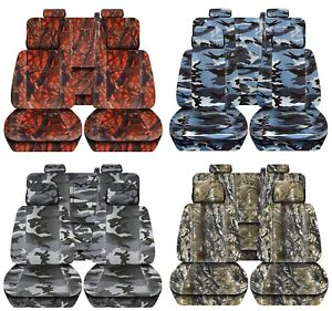 Truck Seat Covers 2014 2018 Chevy Silverado Camouflage Design Custom Fit Abf