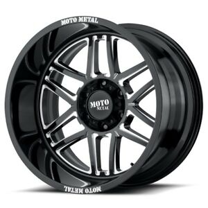 20 Inch Black Wheels Rims Lifted Gmc Sierra 2500 3500 Truck Hd 20x12 8x180 New