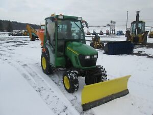 John Deere 2320 Used Farm Tractor With Snow Plow And Salt Spreader 2161