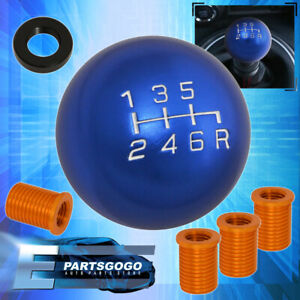 For Chevy M8x1 25 M10x1 5 M12x1 25 6 Speed Ball Shift Knob Lever Manual Blue