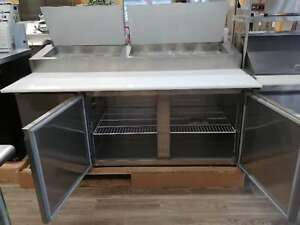 Pantin Commercial 71 Two Door Pizza Prep Table With Cabinet Refrigerator Etl