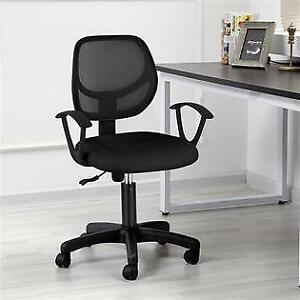Yaheetech Adjustable Swivel Computer Desk Chair Fabric Mesh Office Chair With Ar