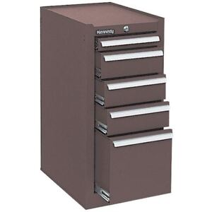Kennedy 185b 5 Drawer Hang on Cabinet color brown