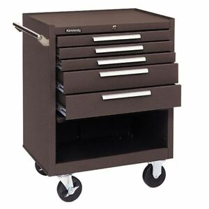 Kennedy 275xb 5 Drawer Roller Cabinet color brown